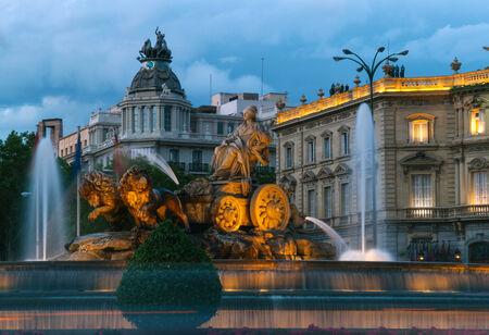 cibeles: Cibeles Fountain at Night, Madrid, Spain
