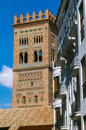 aragon: View of the Tower of Teruel Cathedral, Aragon, Spain Stock Photo