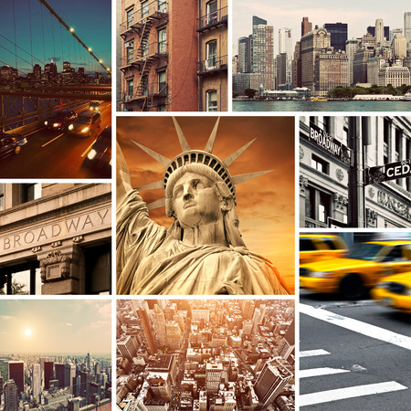 Vintage Manhattan-New York Collage