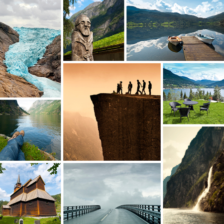 fjords: Norway Collage Stock Photo