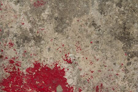Cement floor and red Stock Photo