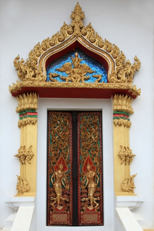thai door Stock Photo