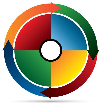 silver boder: Arrow circle pie