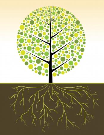 silver boder: Tree vector simply