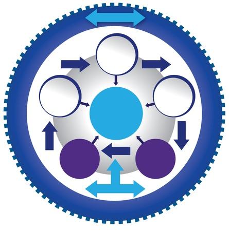 silver boder: Gear circle template Illustration