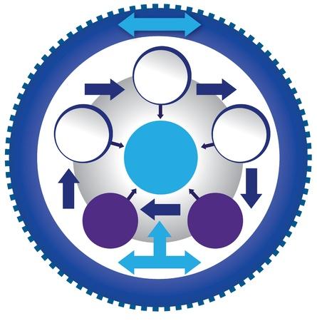Modèle de cercle de vitesse Banque d'images - 19689956