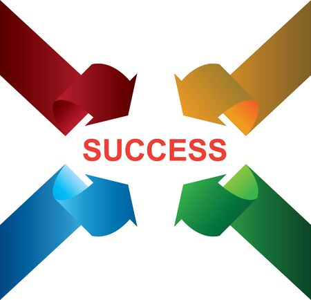 Arrow to success Vector