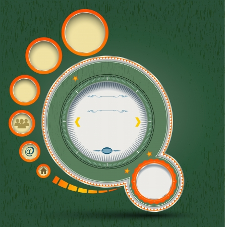 Circle template vintag style Vector