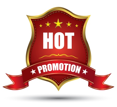 Red tag hot promotion classic Illustration