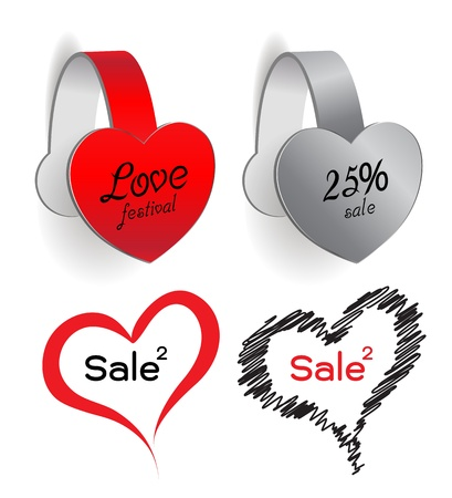 silver boder: heart tag sale love