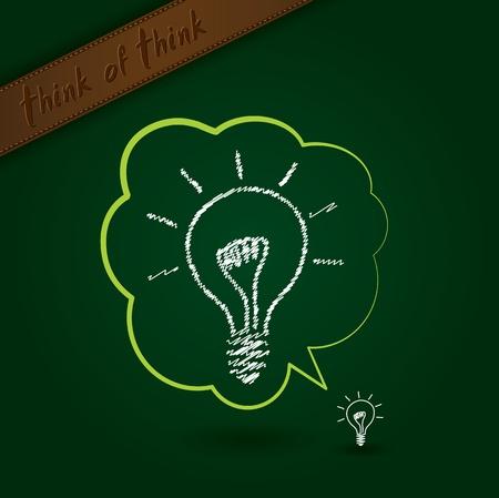 silver boder: Bulb idea to idea Illustration