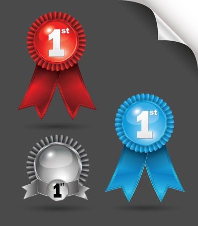 silver boder: Tag award ribbon Illustration