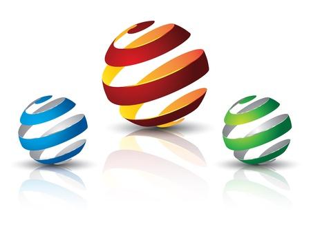 silver boder: 3d ball twist set