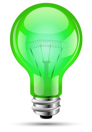 Ampoule verte Banque d'images - 19707206