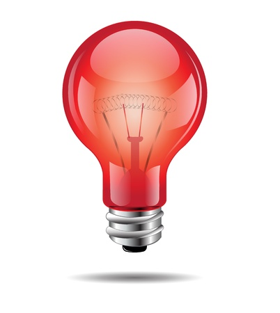 Ampoule rouge Banque d'images - 19707261