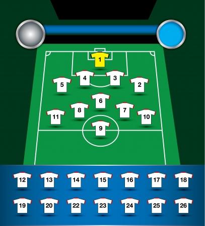 plan soccer team Vector