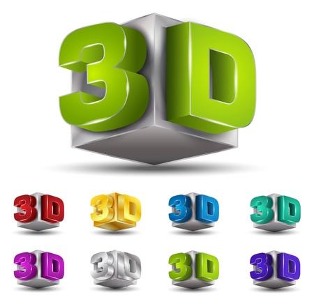 silver boder: 3D color set