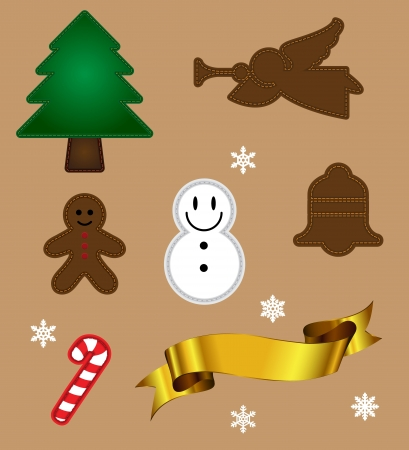 Christmas object Vector