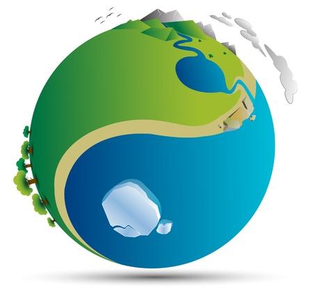 silver boder: world yin yang Illustration