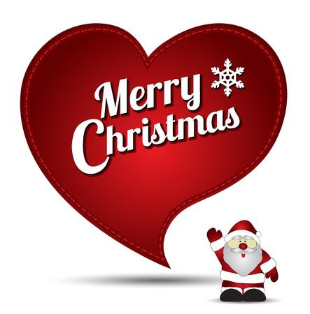 silver boder: Merry Christmas and santa cartoon Illustration