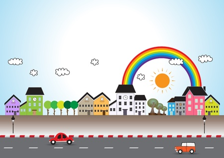 Mini bande dessinée de ville Banque d'images - 19707098