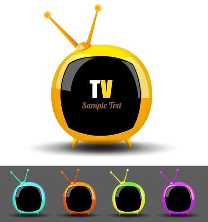 silver boder: Televition TV vector set