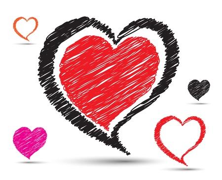 silver boder: heart art set dewing