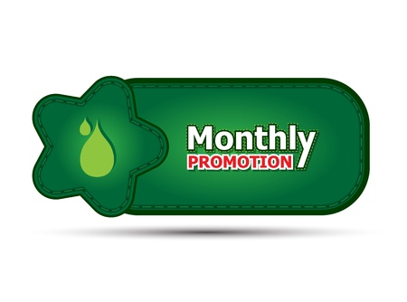 green banner monthly promotion Vector