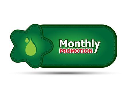 silver boder: green banner monthly promotion Illustration