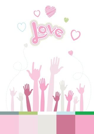 Main d'aimer Banque d'images - 20312650