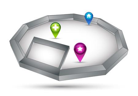 silver boder: 3D tage Illustration