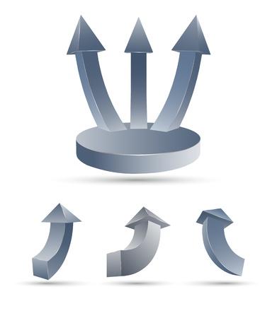 silver boder: 3D arrow set