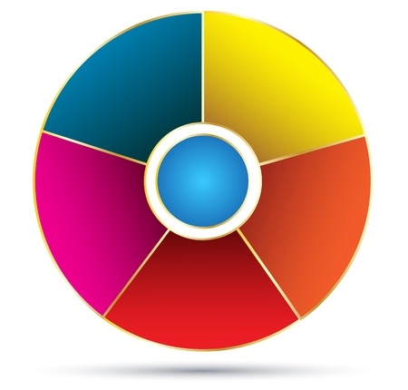 tendance: Circle color template for business diagram