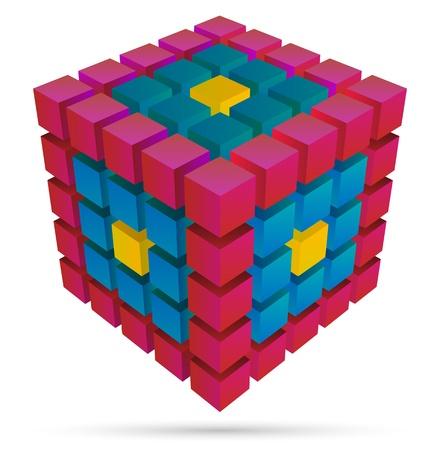 Cube 3d Banque d'images - 20312575