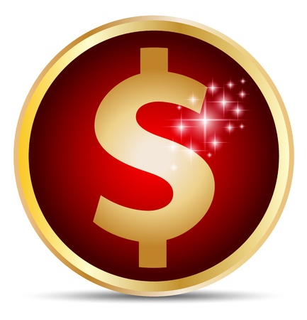 silver boder: Dollar sign gold border