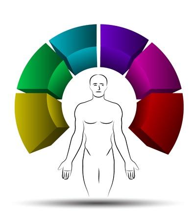 silver boder: Health step Illustration