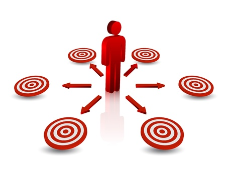 tendance: Business arrow to target for business concept