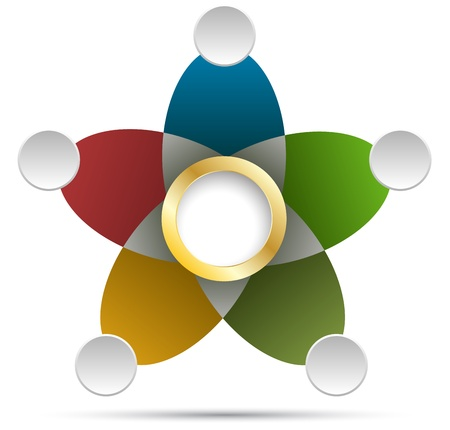 silver boder: Background star circle color for planing or diagram
