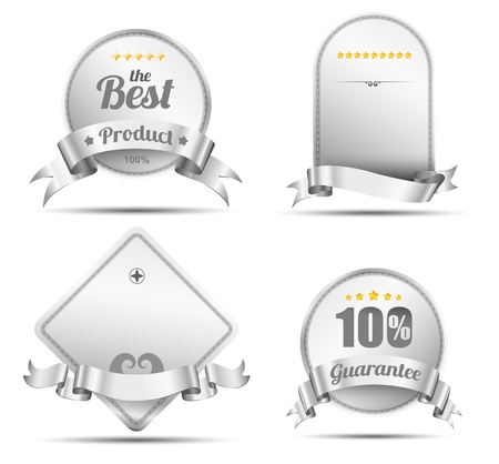 Tag silver embroidery for promotion or  Vector