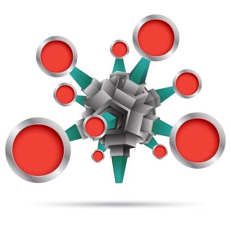 Groupe Cercle 3D arrière-plan pour le plan de concept d'affaires et diagramme Banque d'images - 20312585