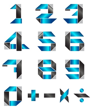 silver boder: Modern number gradient