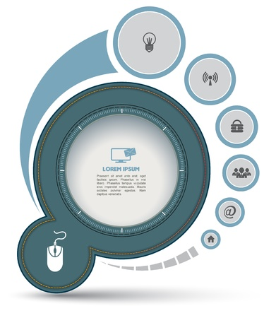Circle with icon for business concept
