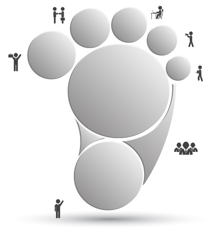 Circle foot for business concept