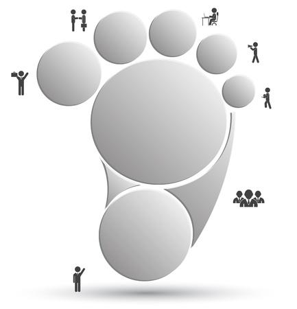 Pied de cercle pour concept d'entreprise Banque d'images - 20312561