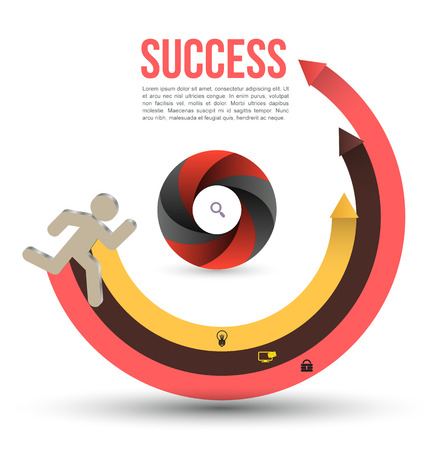 Running circle to success Vector