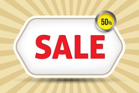 Sale tag promotion Vector