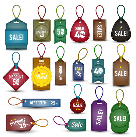 Tag label vintage collections Vector