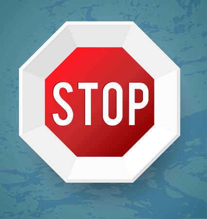 Stop modern style Vector