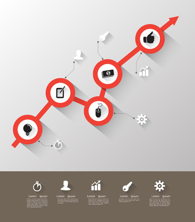 Time line with icons Illustration