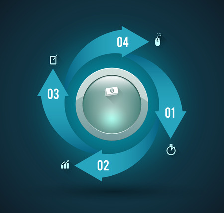 Circle arrow options Vector